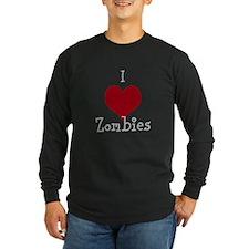 I Heart Zombies -Long Dark Long Sleeve T-Shirt