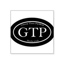 Black GTP oval sticker (with scientific name) Stic