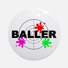 Paintball Baller Ornament (Round)