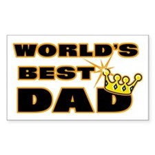 World's Greatest Dad Rectangle Decal