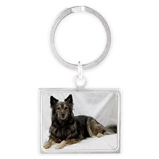 Maia--Keeshond/Cattle Dog/Borde Landscape Keychain
