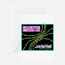 Imagination-Neil Young/t-shirt Greeting Cards