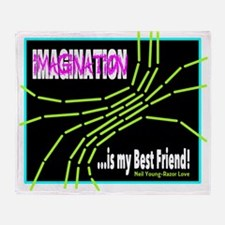 Imagination-Neil Young/t-shirt Throw Blanket