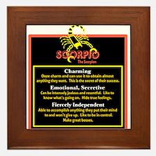 Scorpio-Zodiac Sign Framed Tile