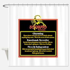 Scorpio-Zodiac Sign Shower Curtain