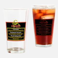 Scorpio-Zodiac Sign Drinking Glass