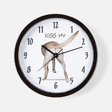 Yellow Labrador Butt Wall Clock