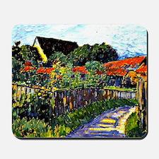 Jawlensky - Farmhouse Garden painting Mousepad