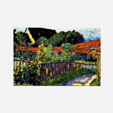 Jawlensky - Farmhouse Garden pain Rectangle Magnet