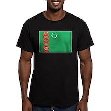 Turkmenistan Flag Men's Fitted T-Shirt (Dark)