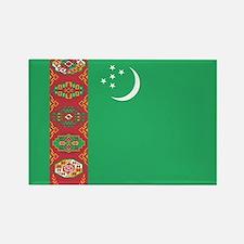 Turkmenistan Flag Rectangle Magnet