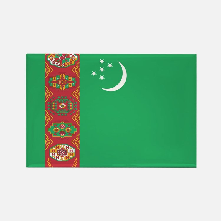 Turkmenistan Flag Rectangle Magnet