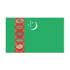 Turkmenistan Flag Rectangle Car Magnet