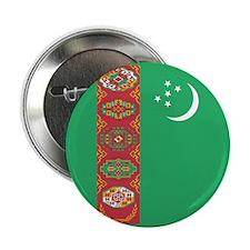 """Turkmenistan Flag 2.25"""" Button"""
