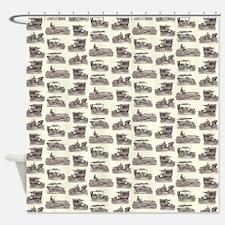 Vintage German Cars Shower Curtain