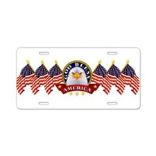 Cute God bless america Aluminum License Plate