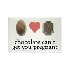 Pregnant Chocolate Rectangle Magnet
