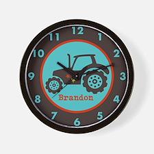 Tractor Custom Name Wall Clock
