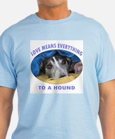 LOVE MEANS EVERYTHING MENS LIGHT BLUE TEE