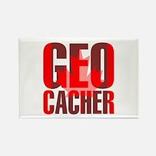 Canadian Geocacher Rectangle Magnet