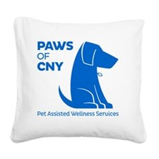 Blue Logo Square Canvas Pillow