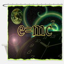 e=mc2 Shower Curtain