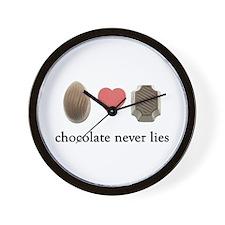 Chocolate Never Lies Wall Clock