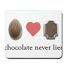 Chocolate Never Lies Mousepad