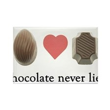 Chocolate Never Lies Rectangle Magnet