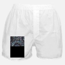 Beaded Sequin Flowers Photo Boxer Shorts