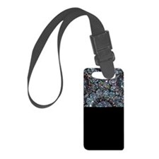 Beaded Sequin Flowers Photo Luggage Tag