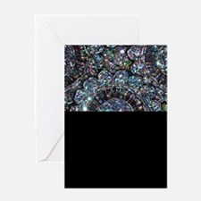 Beaded Sequin Flowers Photo Greeting Card