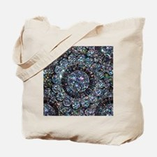 Beaded Sequin Flowers Photo Tote Bag