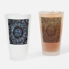 Beaded Sequin Flowers Photo Drinking Glass