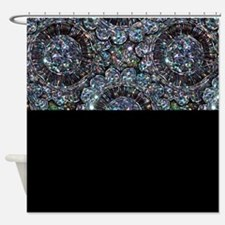 Beaded Sequin Flowers Photo Shower Curtain