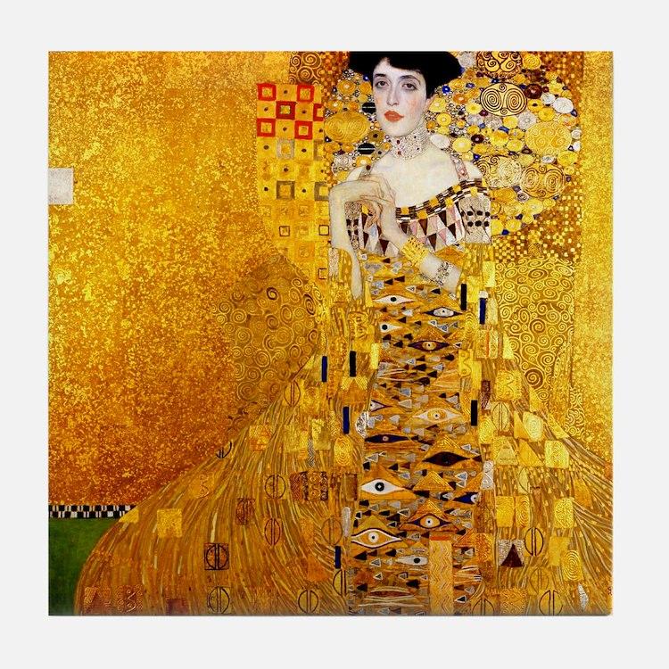 Gustav Klimt Portrait of Adele Bloch- Tile Coaster