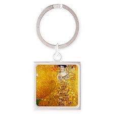 Gustav Klimt Portrait of Adele Blo Square Keychain