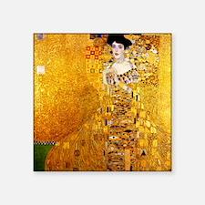 "Gustav Klimt Portrait of Ad Square Sticker 3"" x 3"""