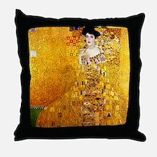 Gustav Klimt Portrait of Adele Bloch- Throw Pillow