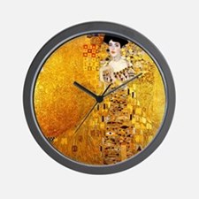 Gustav Klimt Portrait of Adele Bloch-Ba Wall Clock