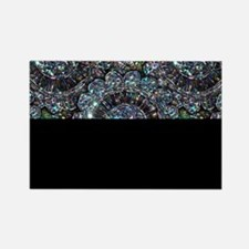Beaded Sequin Flowers Photo Rectangle Magnet