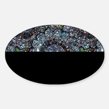 Beaded Sequin Flowers Photo Sticker (Oval)