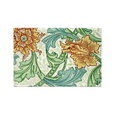 William Morris design, Single Ste Rectangle Magnet