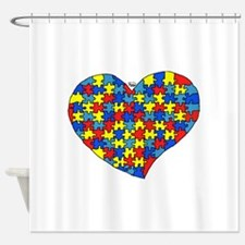 Autism Heart Shower Curtain