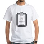 Autism (clipboard) White T-Shirt