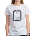 Autism (clipboard) Women's T-Shirt