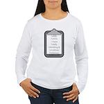 Autism (clipboard) Women's Long Sleeve T-Shirt