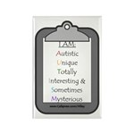 Autism (clipboard) Rectangle Magnet (10 pack)