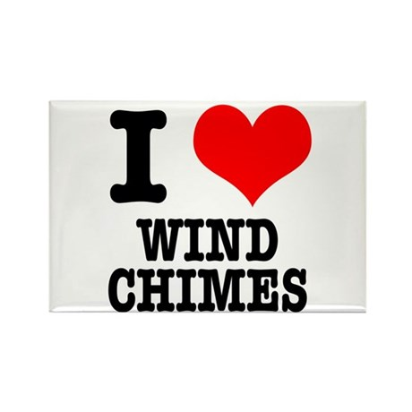 I Heart (Love) Wind Chimes Rectangle Magnet