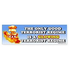 A Glowing Terrorist Regime Bumper Bumper Sticker